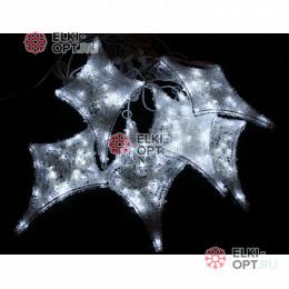 Комплект из акриловых звезд цвет бело-синий 20*40см IP44 с контроллером (12шт)