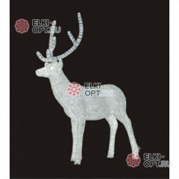 Световая Акриловая Фигура 3D Олень папа цвет белый 170см