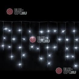 Светодиодная бахрома 3х0,5м цвет белый, провод черный, IP54, постоянное свечение