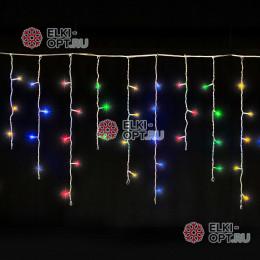 Светодиодная бахрома 3х0,5м цвет мульти, провод прозрачный, IP54, постоянное свечение