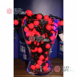 Светодиодная гирлянда Мультишарики 10м d-1,8см цвет красный постоянное свечение IP65
