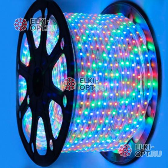 Светодиодная лента цвет мульти c контроллером 100м  (3528) 220V