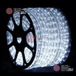Дюралайт цвет белый d-13мм 100м, постоянное свечение (фиксинг), 220V
