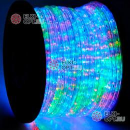 Дюралайт цвет мульти d-10.5мм 100м, постоянное свечение (фиксинг), 220V