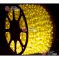 Дюралайт цвет желтый d-10.5мм 100м, постоянное свечение (фиксинг), 220V