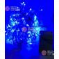 Светодиодная гирлянда цвет синий 10м с контроллером 100LED IP22 (50шт *210р)