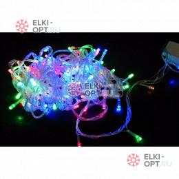 Светодиодная гирлянда цвет мульти 10м с контроллером 100LED IP22