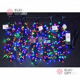 Светодиодная гирлянда Клип Лайт LED 5 нити по 20м цвет Мульти 24V 100м постоянное свечение