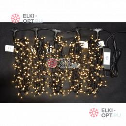 Светодиодная гирлянда Клип Лайт 5 лучей по 20м цвет теплый белый 1000LED 24V постоянное свечение