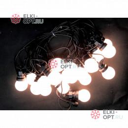 Светодиодная гирлянда Белт Лайт 10м цвет теплый белый 20 ламп провод каучук IP65 с контроллером