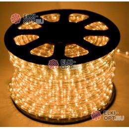 Дюралайт LED цвет теплый белый 100м d-13мм трехжильный (чейзинг) (32led/m)