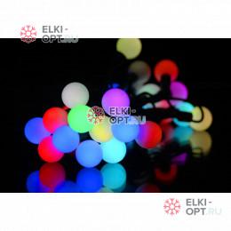 Светодиодная гирлянда Мультишарики 5м d-1,8см цвет RGB IP65