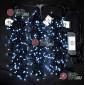 Светодиодная гирлянда Клип Лайт 3 нити по 20м цвет белый постоянное свечение провод черный IP54 24V