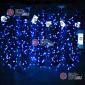 Светодиодная гирлянда Клип Лайт 5 нитей по 20м цвет синий постоянное свечение провод черный IP54 24V