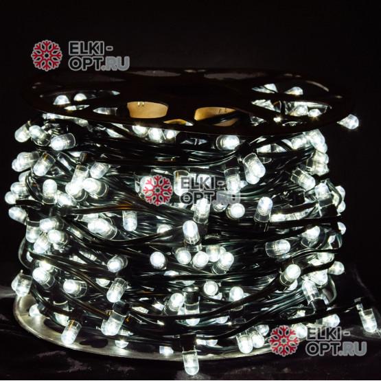 Светодиодная гирлянда Клип Лайт 12V цвет белый 100м шаг 30см 333 LED провод зеленый IP65