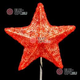 Макушка для ёлки Звезда 30 см цвет красный