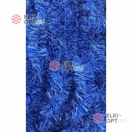 Мишура новогодняя Снег цвет синий d-7см длина 2м (упак. 10шт)
