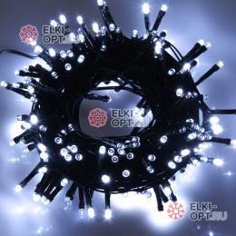 Светодиодная гирлянда цвет белый 10м IP44, провод черный, 220V (20шт*980р)