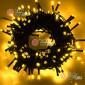 Светодиодная гирлянда цвет желтый 10м IP44, провод черный, 220V (20шт*850р)