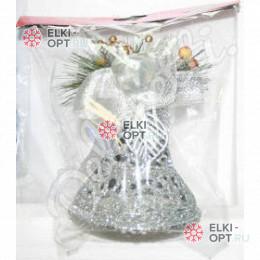 Елочное украшение Колокольчик 11см цвет серебро (50шт х 85 руб)