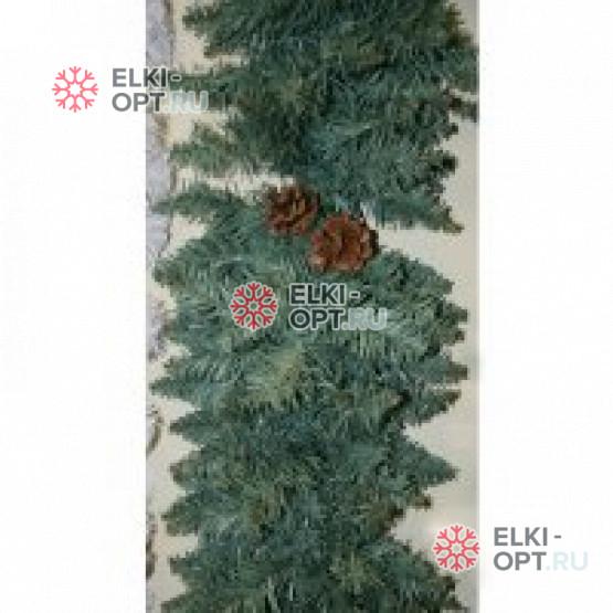 Гирлянда хвойная d-25 см цвет голубой  длина 2,7м