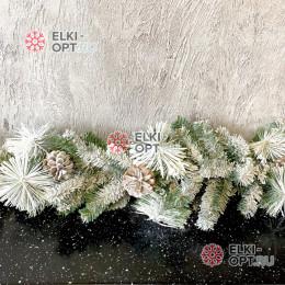 Гирлянда хвойная Крымская снежная d-30см длина 200см цвет зеленый
