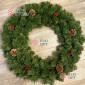 Венок новогодний 90см Камчатский цвет зеленый
