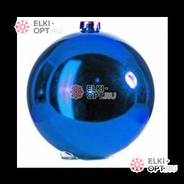 Шар 15см цвет синий глянец (1шт/уп)