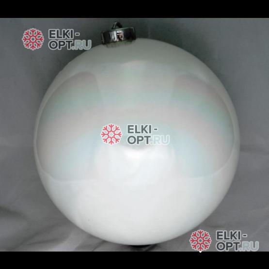 Шар 15см цвет белый глянец (1шт)