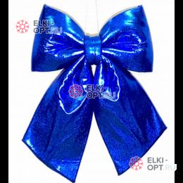 Бант 30см Блестящий цвет синий