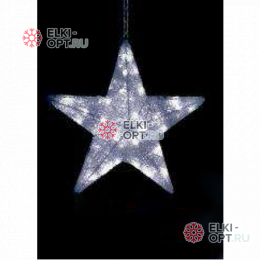 Светодиодная фигура Звезда  цвет белый  (60*60*12 см)