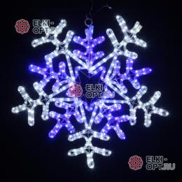 Светодиодная фигура Снежинка LED (55*55 см) белая/синяя
