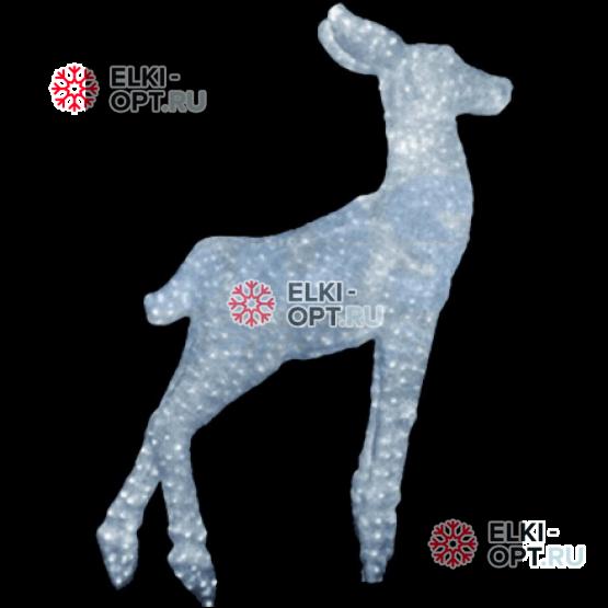 Световая Акриловая Фигура Олень малыш цвет белый 95см