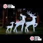 Световая Акриловая Фигура 3D Олень папа цвет белый 195см