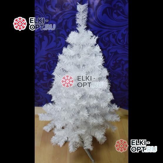 Ель искусственная Метелица 1,2м цвет белый + в подарок гирлянда 10м цвет белый с контроллером