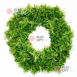 Венок новогодний  d-35см цвет зеленый