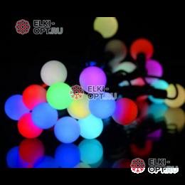 Светодиодная гирлянда Мультишарики 10м d-1,8см цвет RGB флеш режим быстрый