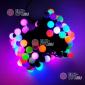 Светодиодная гирлянда Мультишарики d-1,8см 10м цвет RGB, быстрый режим 100LED, провод черный, IP65
