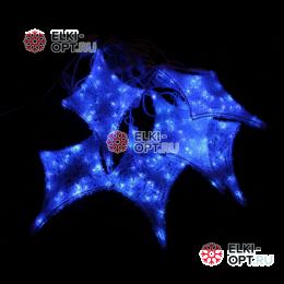 Светодиодная гирлянда Мерцающие звезды 6шт цвет бело-синий
