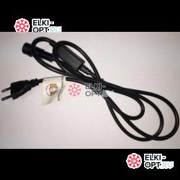 Шнур для подключения гирлянд 220V цвет черный