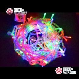 Светодиодная гирлянда 10м цвет мульти, провод прозрачный
