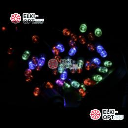 Светодиодная гирлянда 100LED мерцающая 10м  цвет мульти провод каучук