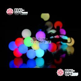 Светодиодная гирлянда Мультишарики 10м d-1,8см цвет RGB флеш режим медленный
