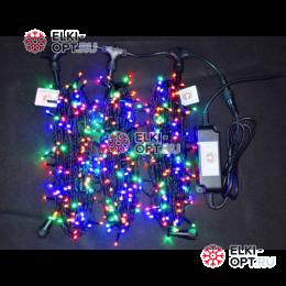 Светодиодная гирлянда Клип Лайт 3 луча по 20м цвет мульти 600LED 24V постоянное свечение