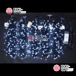 Светодиодная гирлянда Клип Лайт 5 лучей по 20м цвет белый 1000LED 24V постоянное свечение