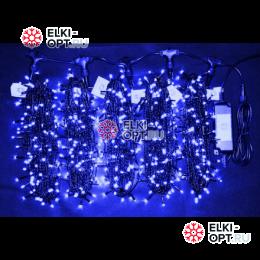 Светодиодная гирлянда Клип Лайт 5 лучей по 20м цвет синий 1000LED 24V постоянное свечение