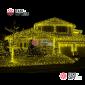 Светодиодная бахрома цвет желтый 3х0,5м,провод прозрачный, IP44, постоянное свечение