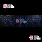 Светодиодная бахрома 3х0,5м цвет синий,провод чёрный, IP44, постоянное свечение