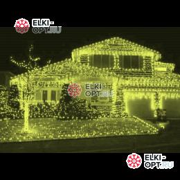 Светодиодная бахрома цвет теплый белый 3х0,5м черный пр. IP54 постоянное свечение
