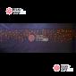 Светодиодная бахрома 3х0,6м цвет желтый, провод черный, IP44, постоянное свечение